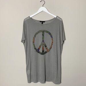 BCBGMaxAzria Peace Sign Tunic Grey